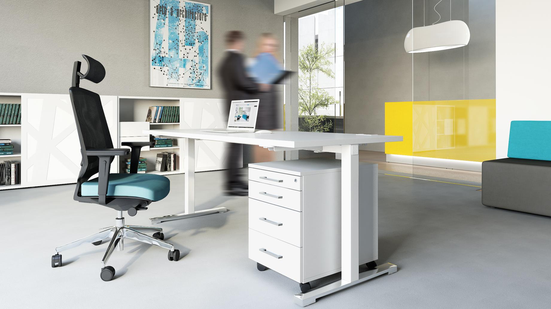 Stock b roeinrichtungen chefzimmer schreibtisch mit for Schreibtisch 3m